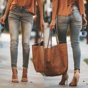 Denim - Gray Vintage Wash Jeans